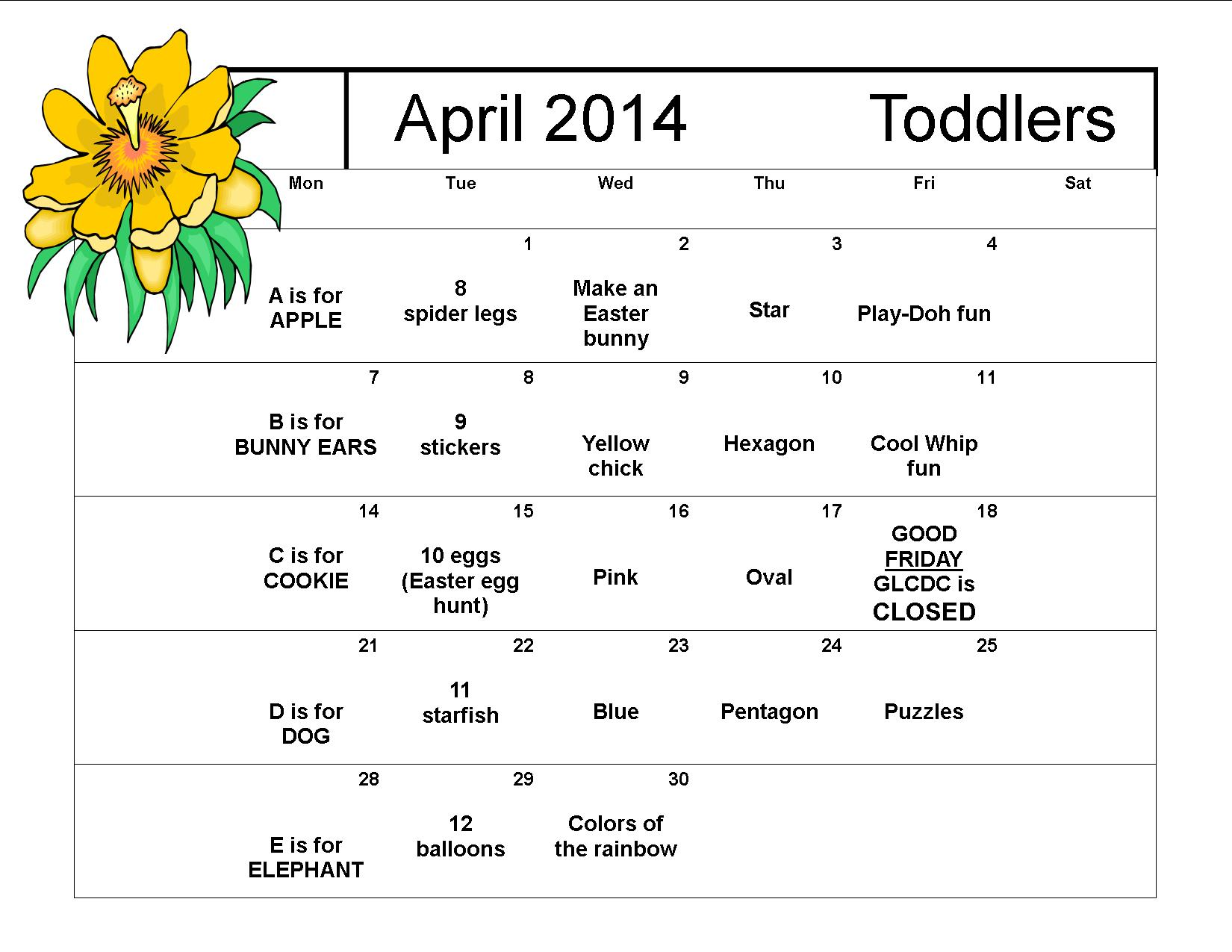 April 2014 Toddlers