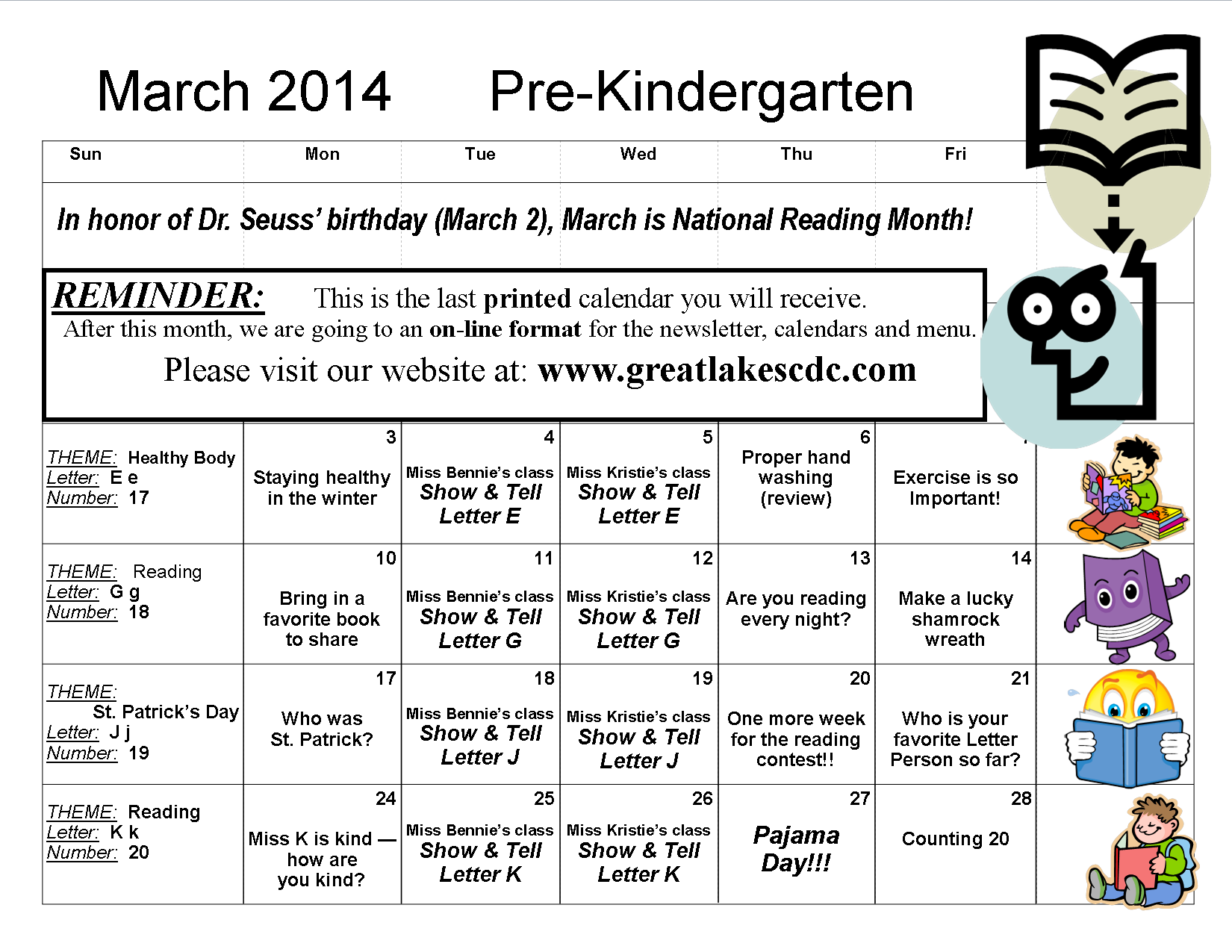 March 2014 Pre-Kindergarten