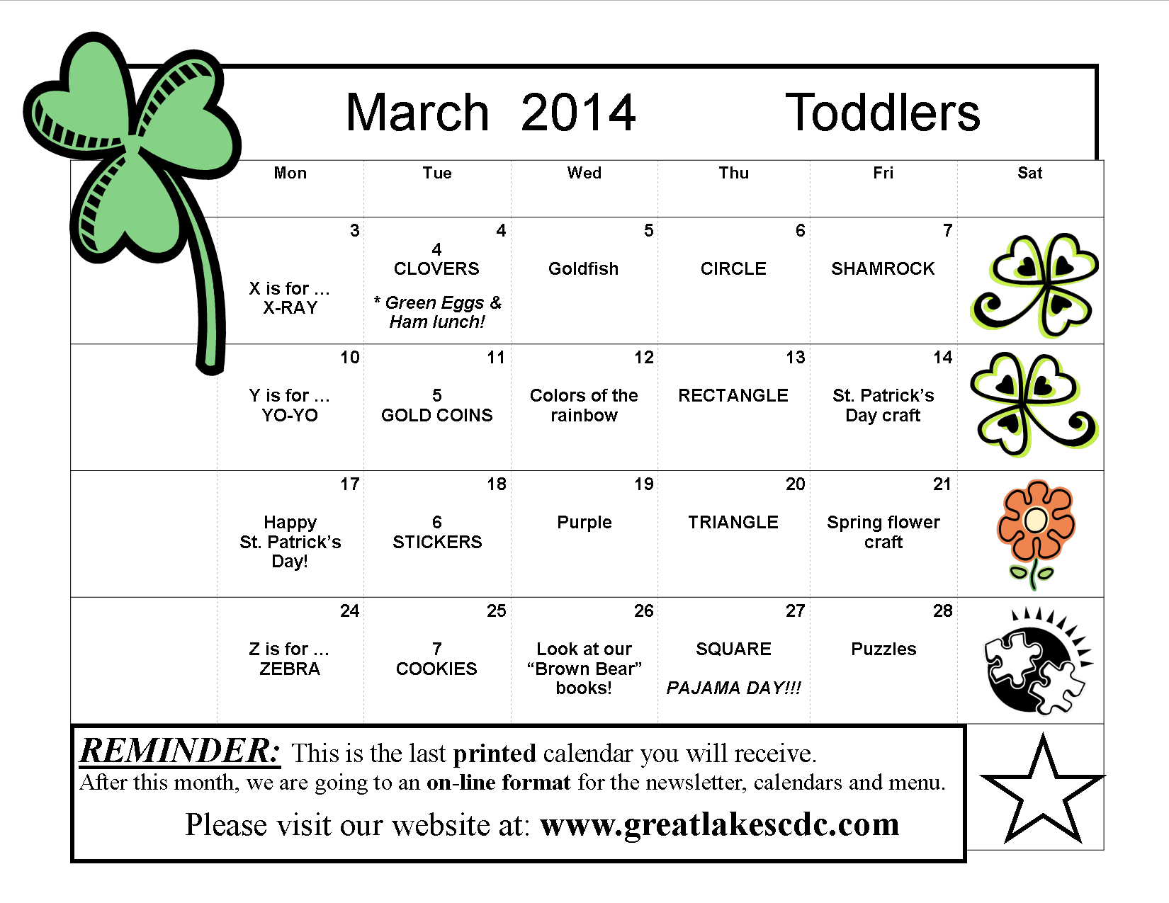 March 2014 Toddlers